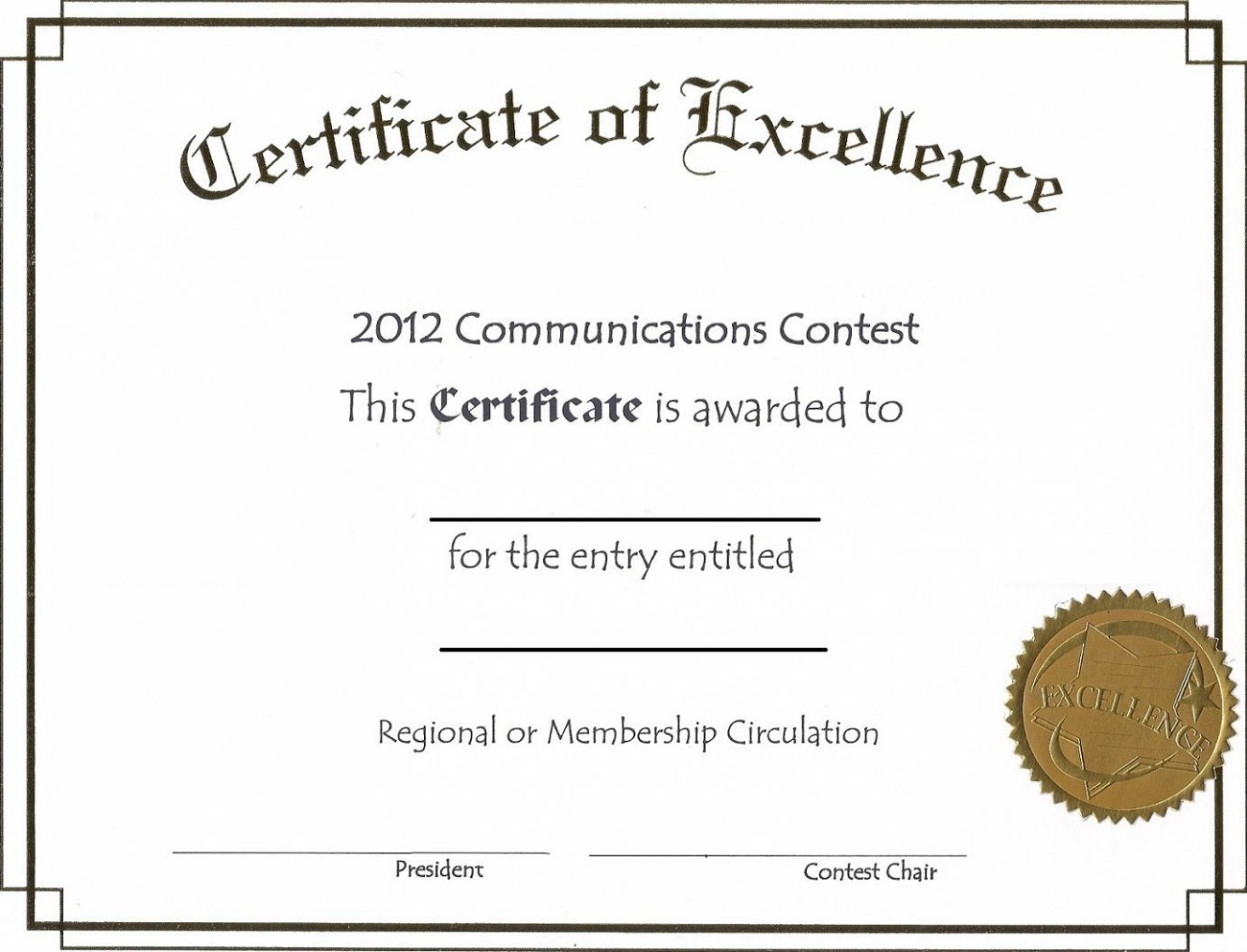 certificate for printing template