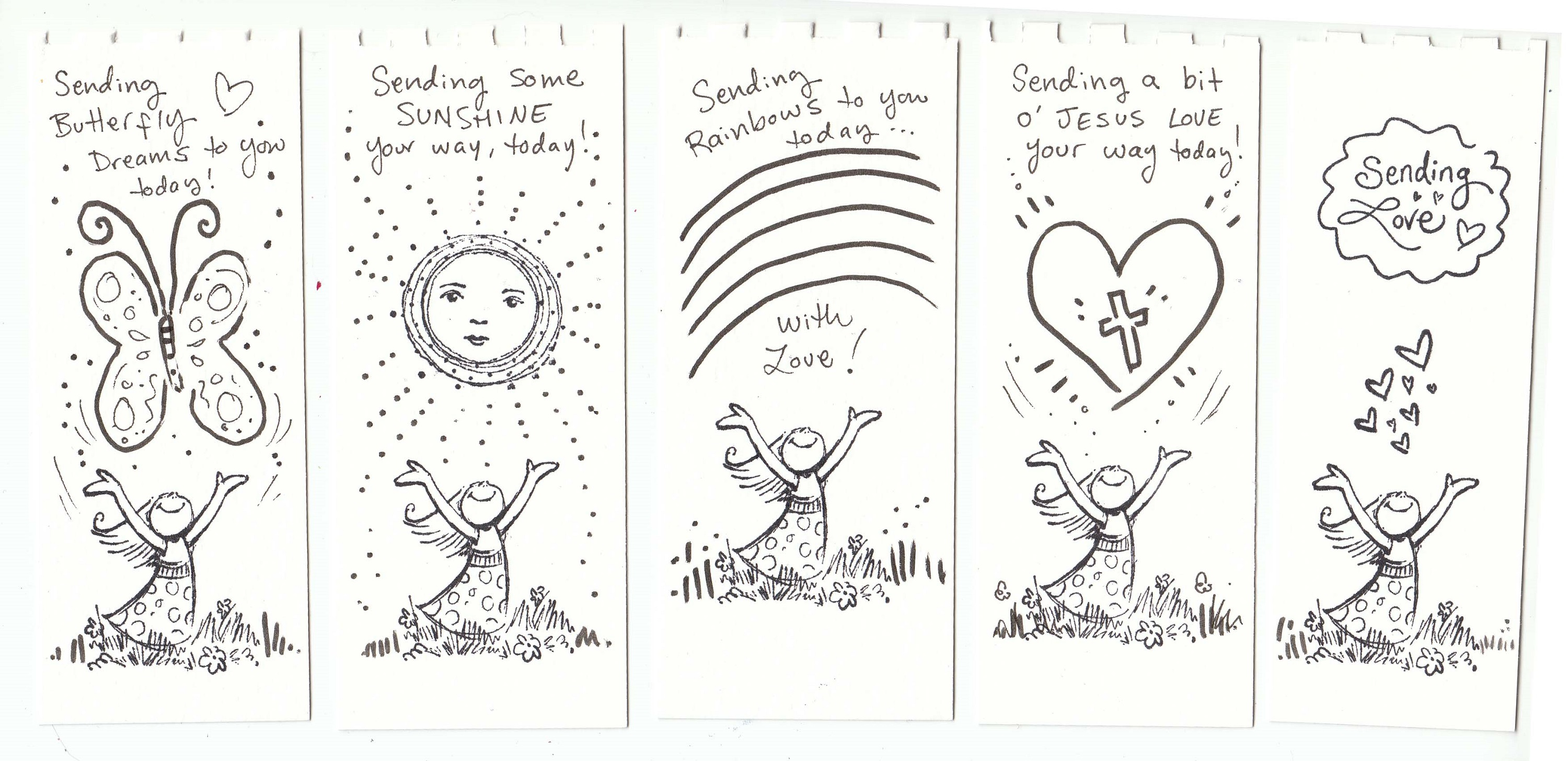 color your own bookmark page