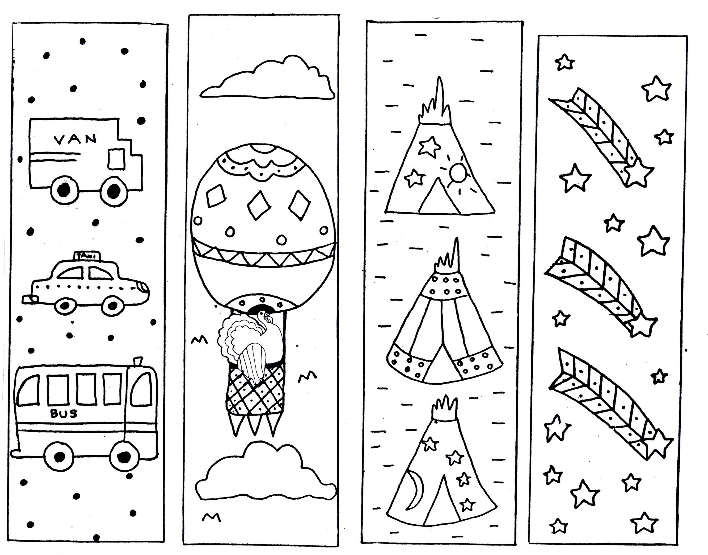 color your own bookmark practice