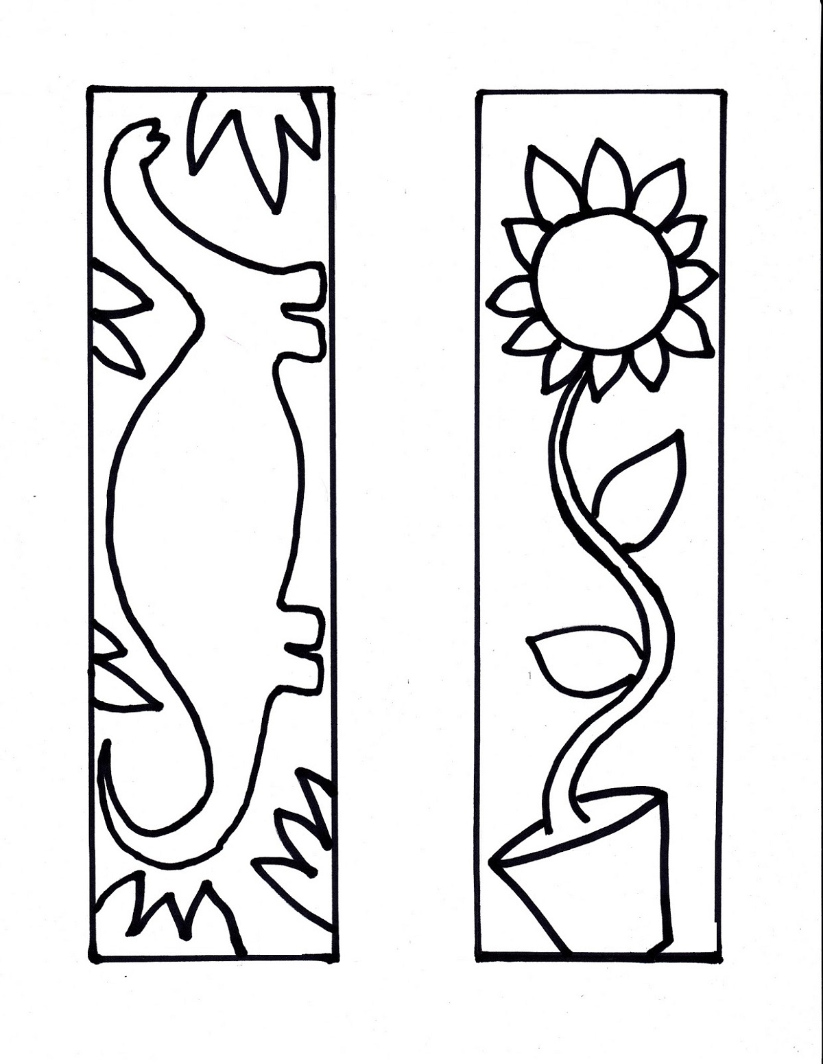 color your own bookmark printable