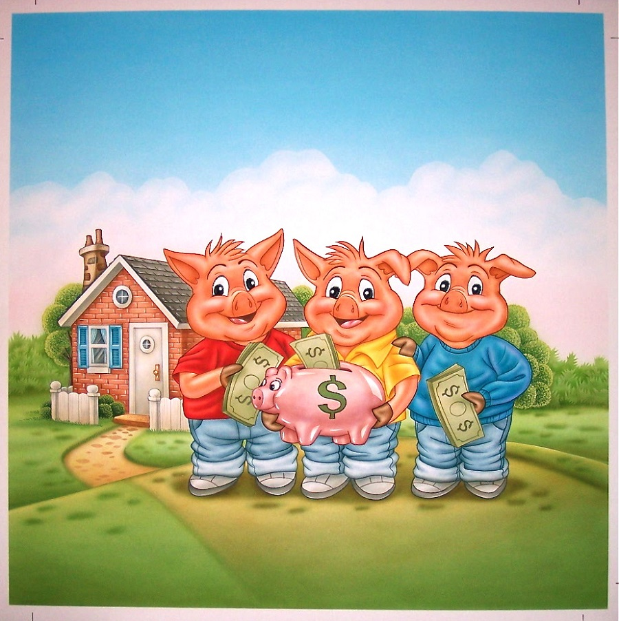 three little pigs pictures cover