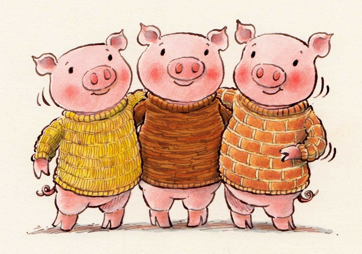 three little pigs pictures illustrations