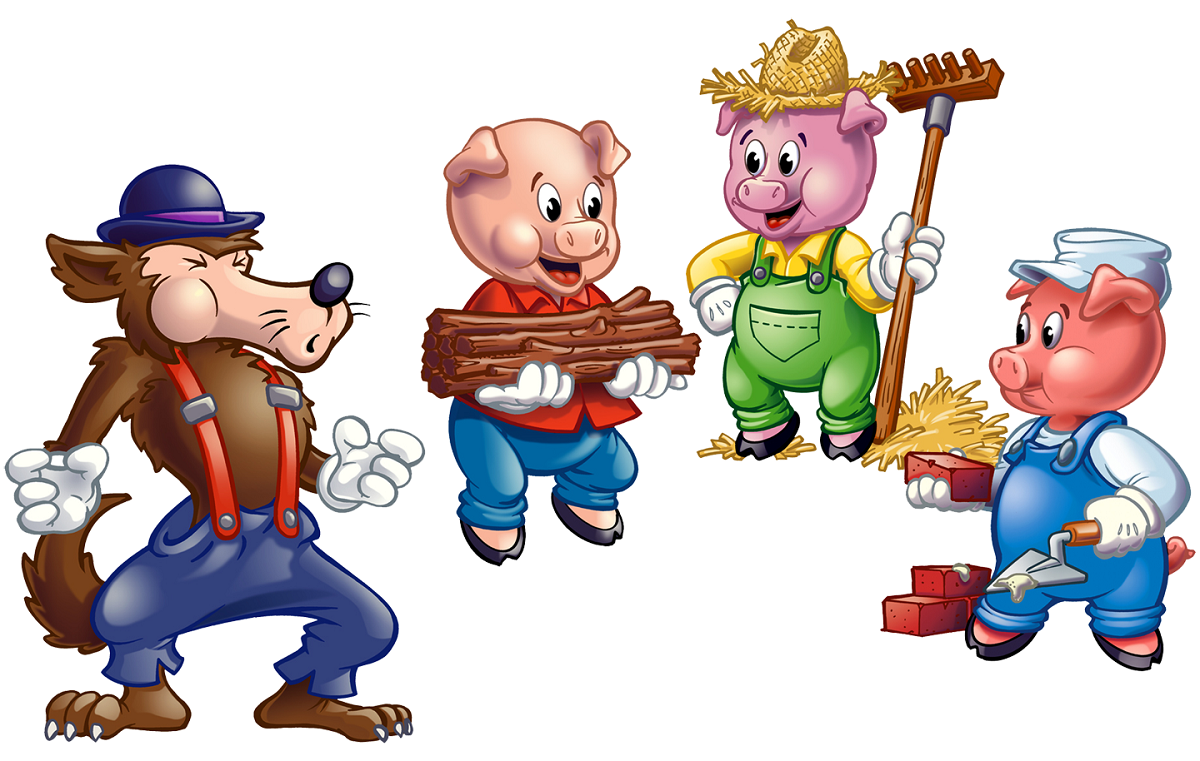 three little pigs pictures page