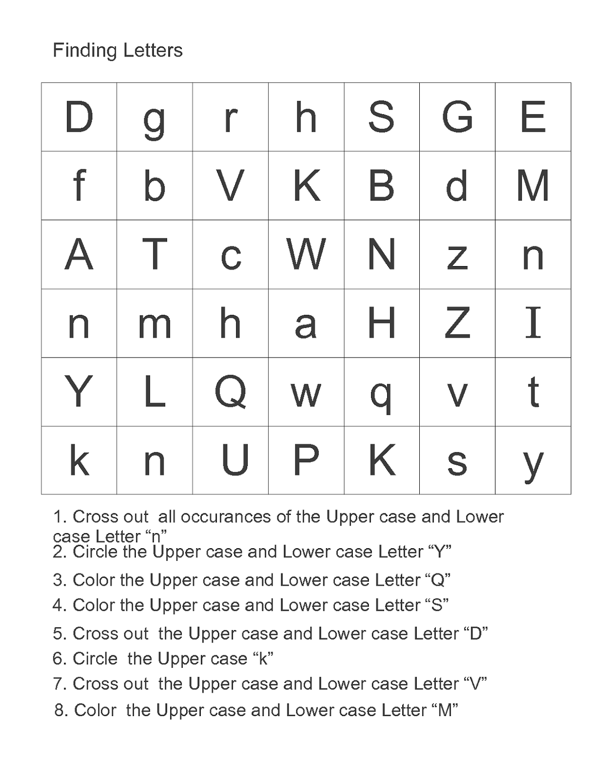abc alphabet worksheets page