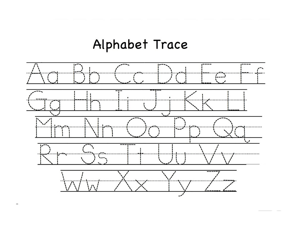 abc alphabet worksheets trace