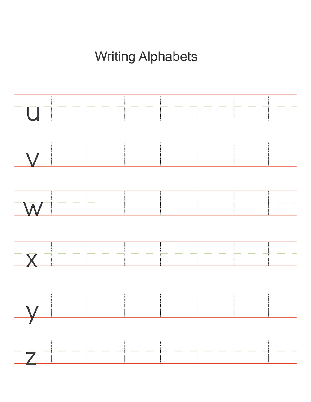 abc printable worksheet writing