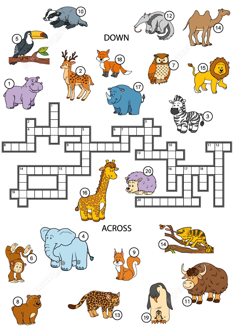 Free Printable Games For Kids Crosswords