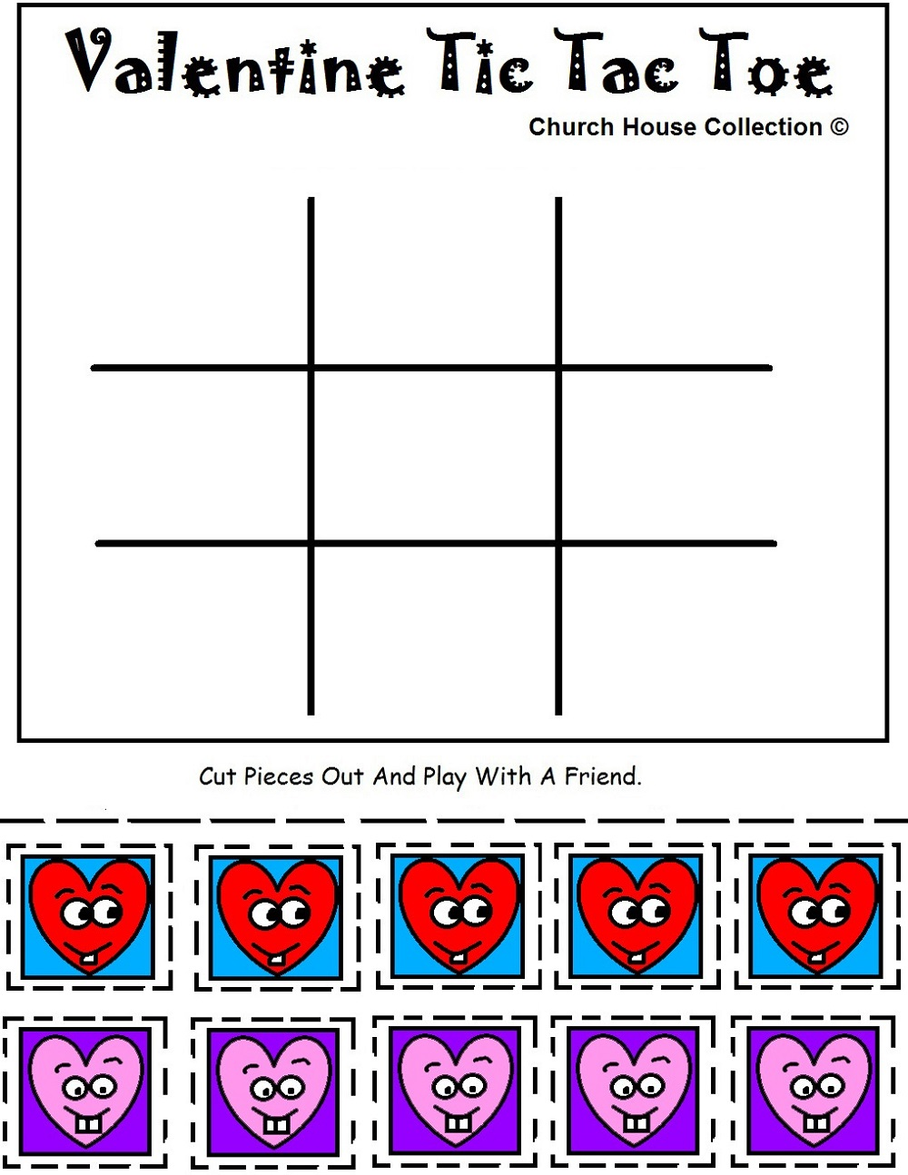 Free Printable Games For Kids Tic Tac Toe