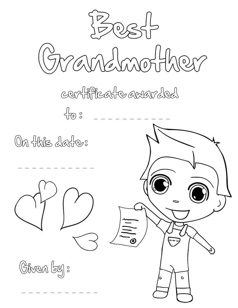 happy birthday grandma coloring pages activity