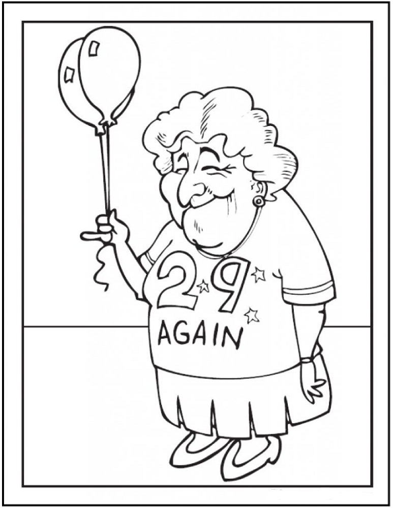 Happy Birthday Grandma Coloring Pages | 101 Printable